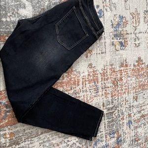 Universal standard faded black high waisted jeans